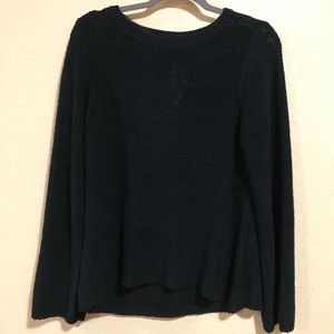 Style & Co. L Black Crew Neck Medium Knit Sweater